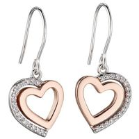 Ladies Fiorelli Sterling Silver Heart Earrings