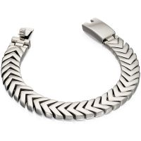 Mens Fred Bennett Stainless Steel Chevron Bracelet B4996