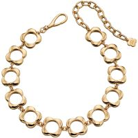 Ladies Orla Kiely Gold Plated Open Flower Choker Necklace