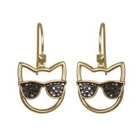 Ladies Karl Lagerfeld Gold Plated Sunglasses Choupette Earrings