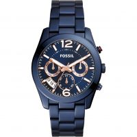 Fossil Perfect Boyfriend Dameshorloge Blauw ES4093