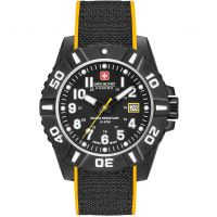 Mens Swiss Military Hanowa Black Carbon Watch