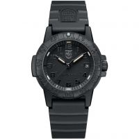 Mens Luminox 0300 Series Leatherback Sea Turtle Blackout Watch