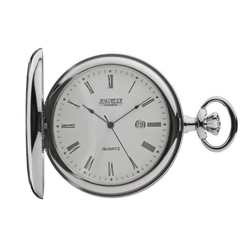 Jean Pierre Hunter Quartz Pocket Watch