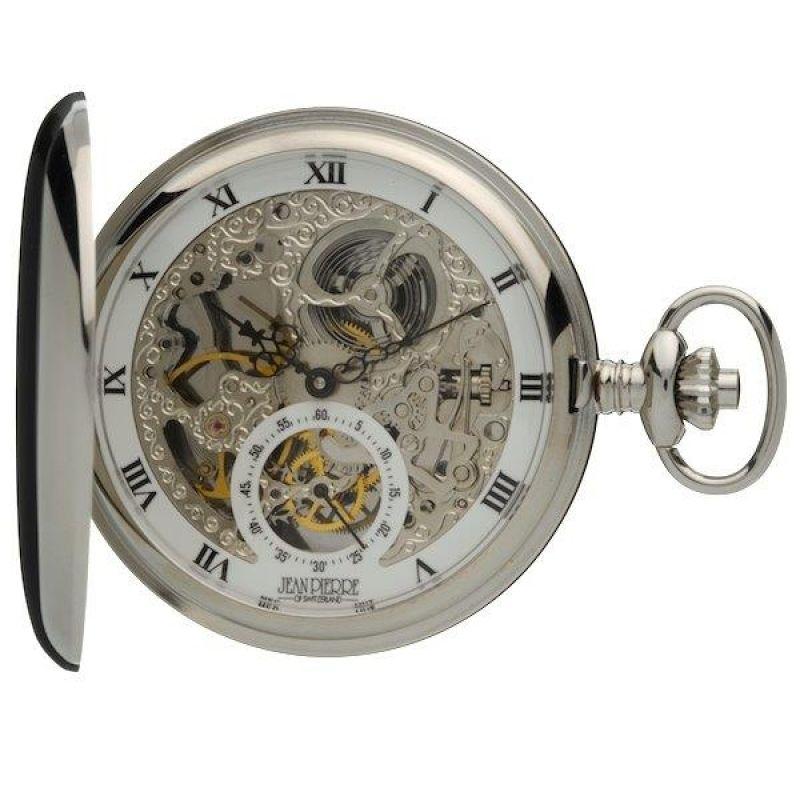 Jean Pierre Double Hunter Pocket Mechanical Watch