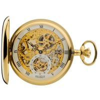 Jean Pierre Double Hunter Pocket Zakhorloge Goud JP-G250PM