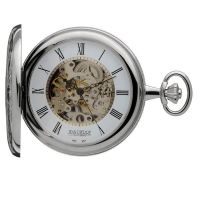 Jean Pierre Double Hunter Pocket Zakhorloge Zilver JP-G251CM