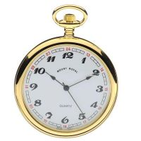 Mount Royal Open Face Quartz Pocket Zakhorloge Goud MR-B1