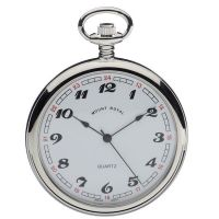 Mount Royal Open Face Quartz Pocket Fickurklocka Silver MR-B2