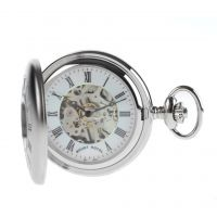 Mount Royal Half Hunter Pocket Zakhorloge Zilver MR-B26
