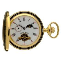 poche Mount Royal Half Hunter Sun Moon Pocket Watch MR-B31P