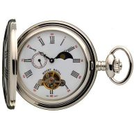 poche Mount Royal Half Hunter Sun Moon Pocket Watch MR-B31C