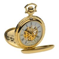 Mount Royal Double Half Hun Pocket Zakhorloge Goud MR-B41