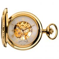 Mount Royal Half Hunter Pocket Zakhorloge Goud MR-B36