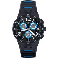 Herren Swatch Black Spy Chronograph Watch SUSB410