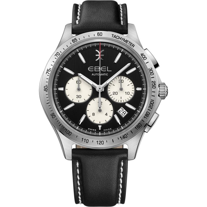 Mens Ebel Wave 40mm Automatic Chronograph Watch