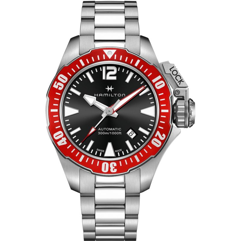 Mens Hamilton Khaki Navy Frogman Automatic Watch