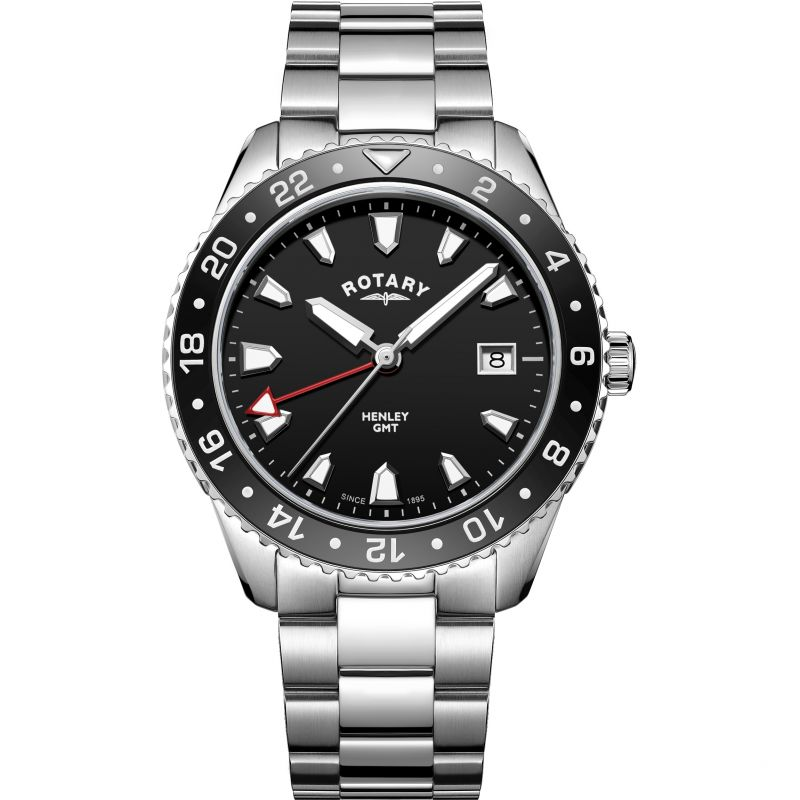 Mens Rotary Henley GMT Watch
