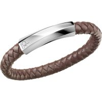 homme Calvin Klein Jewellery Bewilder Leather Bracelet Watch KJ2BCB09020L