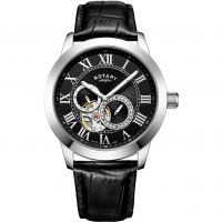 homme Rotary Exclusive Open Heart Watch GS00610/10