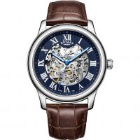 Rotary Exclusive Skeleton Herenhorloge Bruin GS00625/05