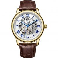 Rotary Exclusive Skeleton Herenhorloge Bruin GS00626/21