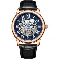 Mens Rotary Exclusive Skeleton Automatic Watch