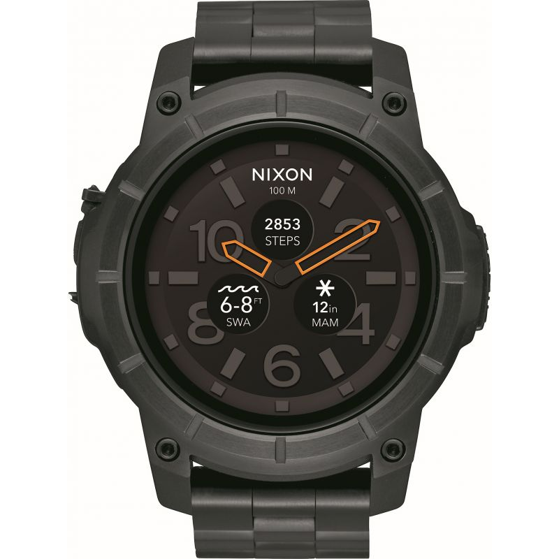 Mens Nixon The Mission SS Alarm Chronograph Watch