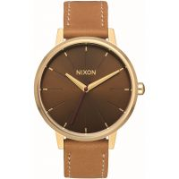 Mens Nixon The Kensington Leather Watch
