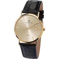 Mens Accurist Gold 9ct Gold Watch 7802