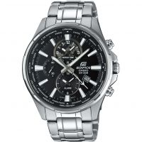 Mens Casio Edifice World Time Alarm Chronograph Watch