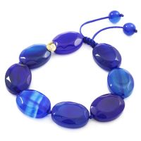 femme Lola Rose Jewellery Edwina Inky Blue Agate Bracelet Watch 2C0520-B92000