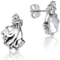 Ladies Disney Couture Silver Plated Snow White Stud Earrings