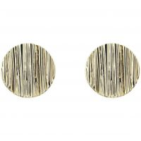 femme Karen Millen Jewellery Textured Disc Stud Earrings Watch KMJ1116-30-03