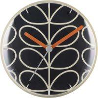 horloge Orla Kiely Clocks Dark Grey Wall Clock OK-WCLOCK03