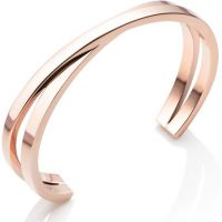 Abbott Lyon Dames Twist Bangle Verguld Rose Goud AL3322