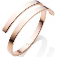 Abbott Lyon Dames Polished Twirl Bangle Verguld Rose Goud AL3422