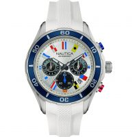 Mens Nautica NST12 Flag Chronograph Watch NAD16536G
