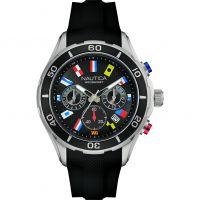 Herren Nautica NST12 Flag Chronograph Watch NAD16537G