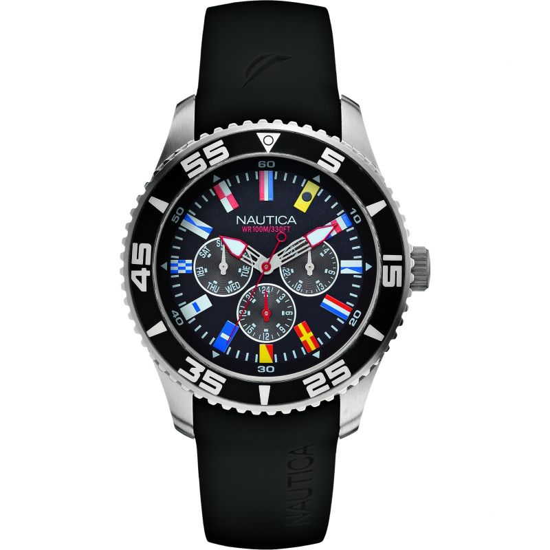 Mens Nautica NST07 Flag Watch