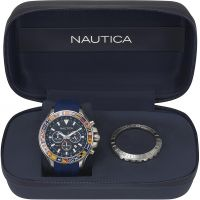 homme Nautica Bali Box Set Chronograph Watch NAPBLI001