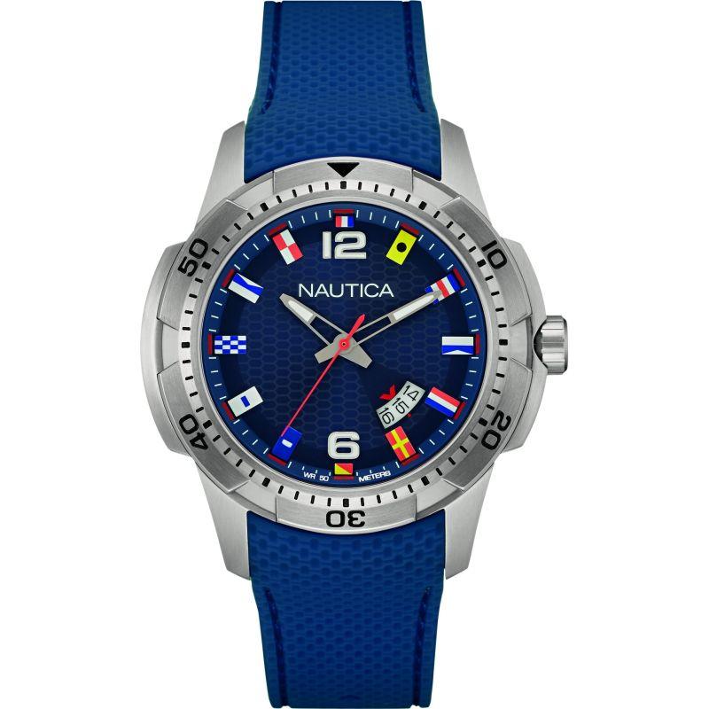 Mens Nautica NCS16 Flag Watch
