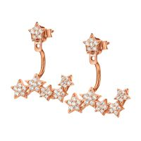 Ladies Folli Follie Rose Gold Plated Sterling Silver Stories Starry Sky Cuff Earrings