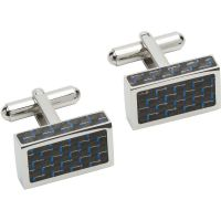 Biżuteria damska Unique & Co and Carbon Fibre Cufflinks QC-227