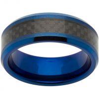 Unique & Co 8mm Tungsten Carbide and Carbon Fibre Ring Size U JEWEL TUR-63-62
