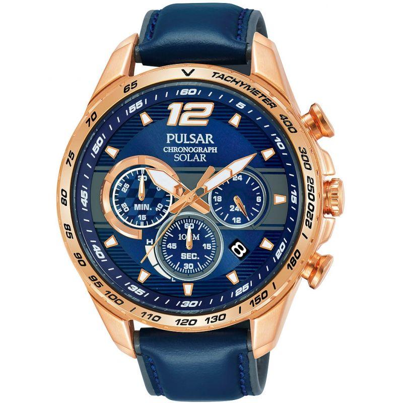 Mens Pulsar Chronograph Solar Powered Watch