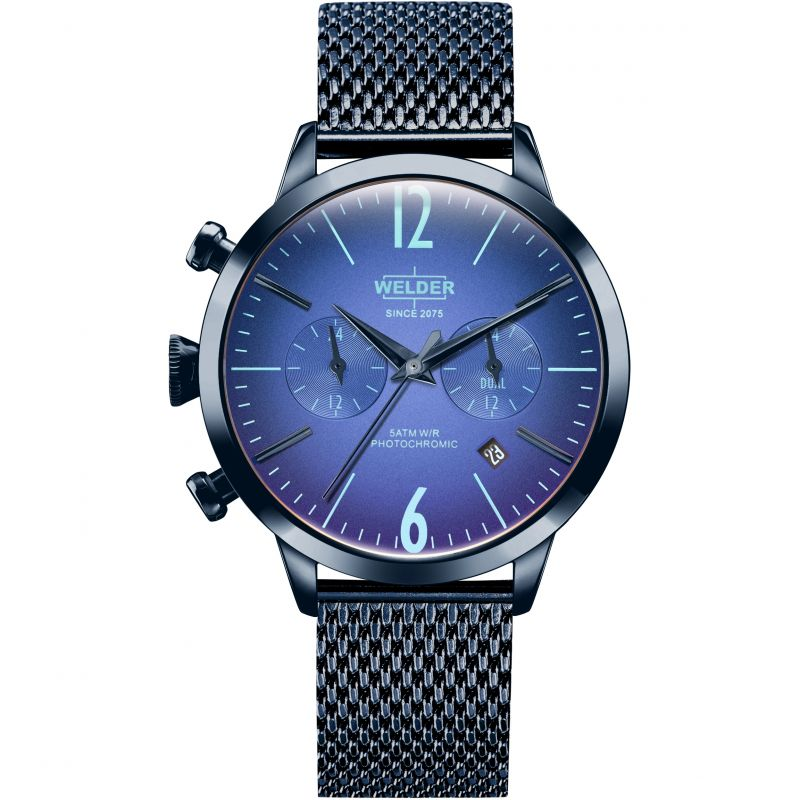 Unisex Welder The Moody 38mm Dual Time Watch