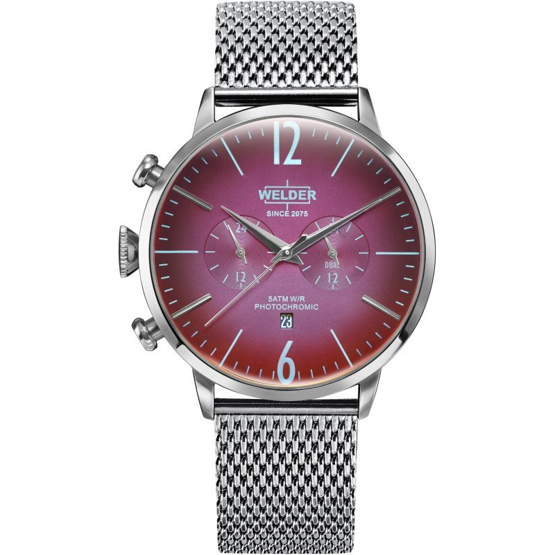 Unisex Welder The Moody 45mm Dual Time Watch
