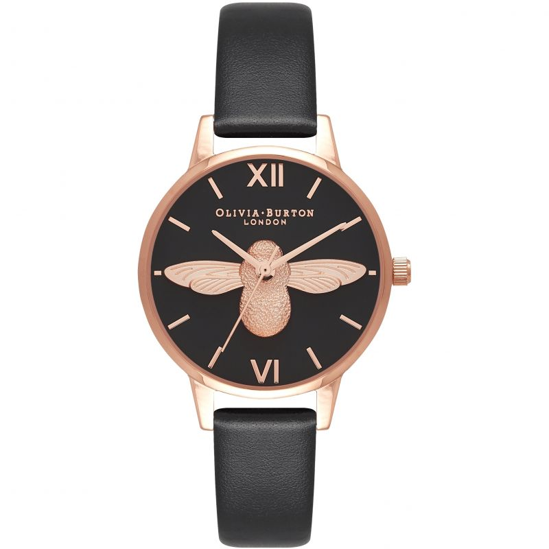 Eco Friendly Rose Gold & Black Watch