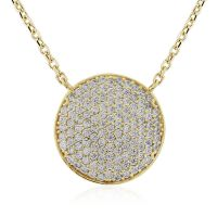 Jewellery 9ct Gold Pave set CZ Necklet 17 inches/43cm